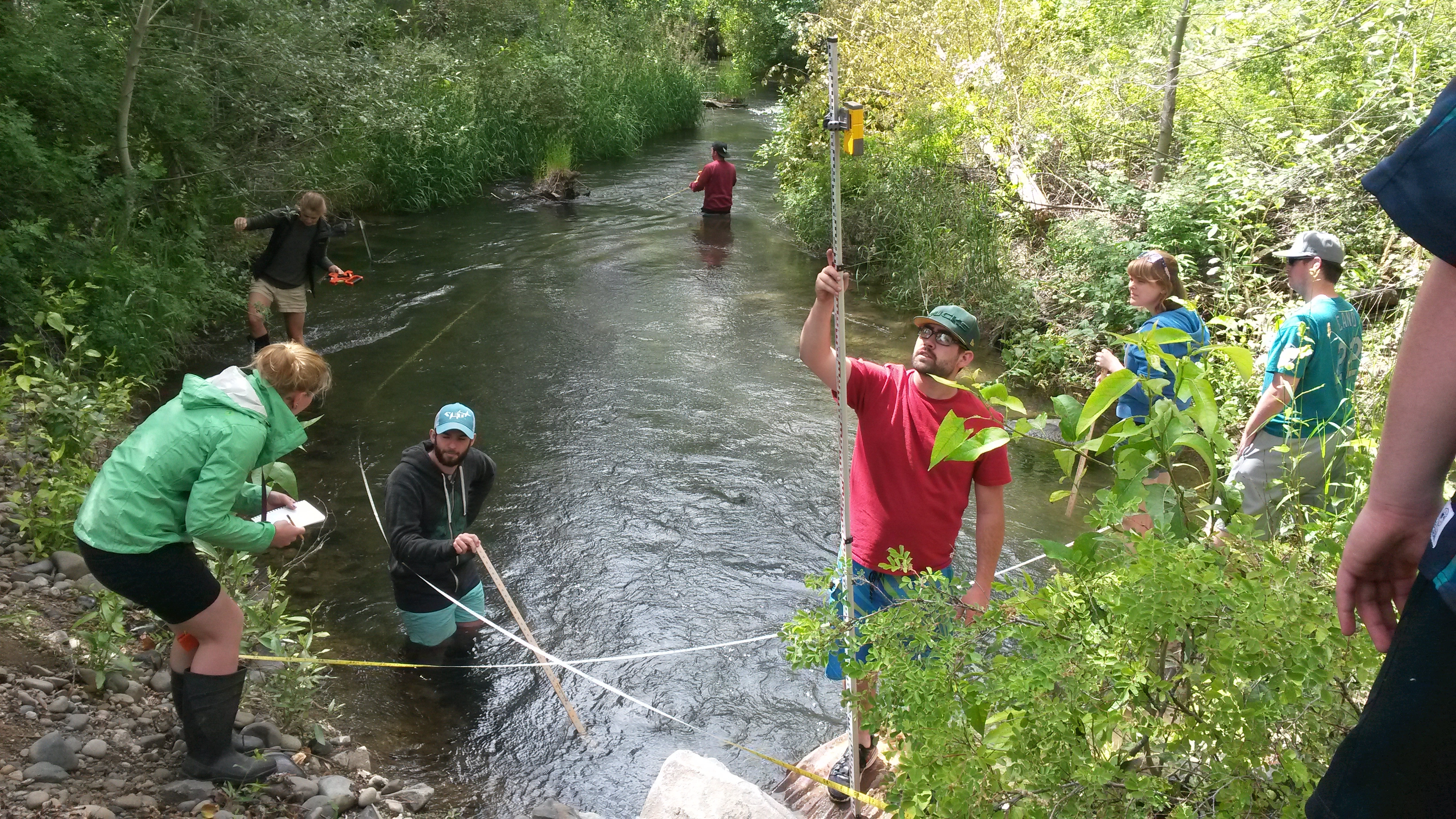 Central Washington University Students Assist with Salmon